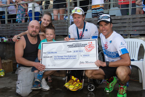 Speed racer Kobie was presented his Grant by none other than Craig Alexander