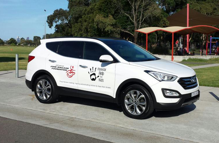 Hyundai Help for Kids have supplied JMF with the first of two cars.