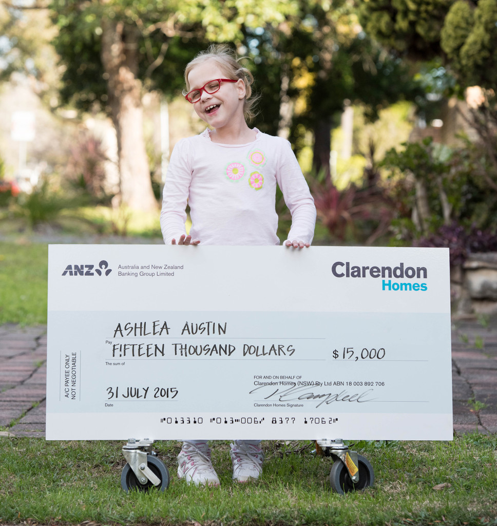 Beautiful Ashlea after receiving her Grant. A new manual wheelchair and a hi Low Chair will completely change her life and that of her families. We are so proud to have been able to help Ashlea and her family and shout out a BIG JMF thanks to Clarendon Homes.