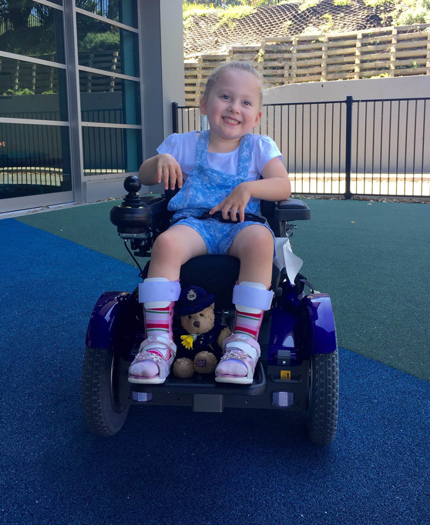 Little Avalon is an incredible little four year old girl who is not letting anything get in her way.