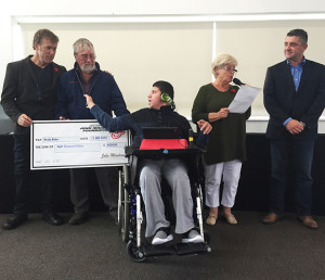 Boost Juice, Boost Foundation have supported JMF Kids 4 Kids for two years. They presented Brodie with a grant that will pay for the bathroom modifications needed to enable him to continue to be bathed at home as he Grows.